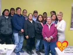 Class photo of trainees in Dulce, NM