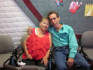 Michael Stewart with Molly Abeyta at Mary Esther Gonzales Senior Center, Santa Fe, NM