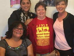 Staff of National Domestic Workers Alliance visit with New Mexico Direct Caregivers Coalition
